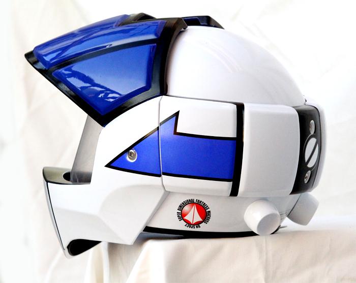 Masei 911 Macross Xcross Blue White Motorcycle Helmet image 2