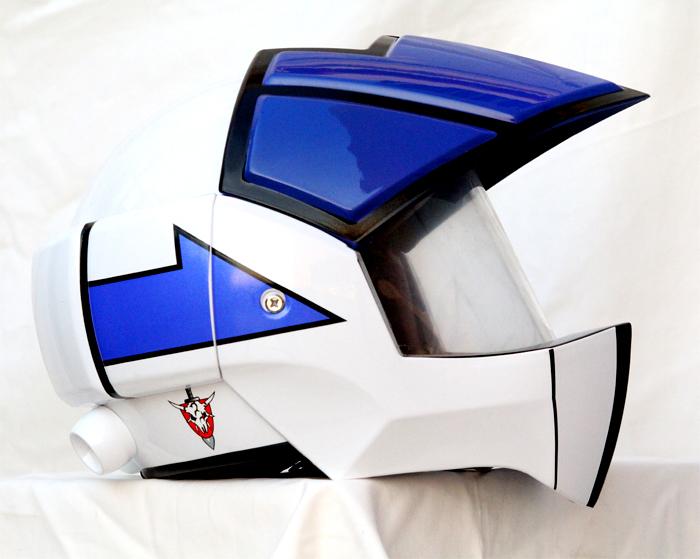 Masei 911 Macross Xcross Blue White Motorcycle Helmet image 3