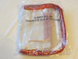Avon Mark Donna Glimmer Borsa Set Cosmetico Rosso Argento F3554741 3 PC ... - $16.02