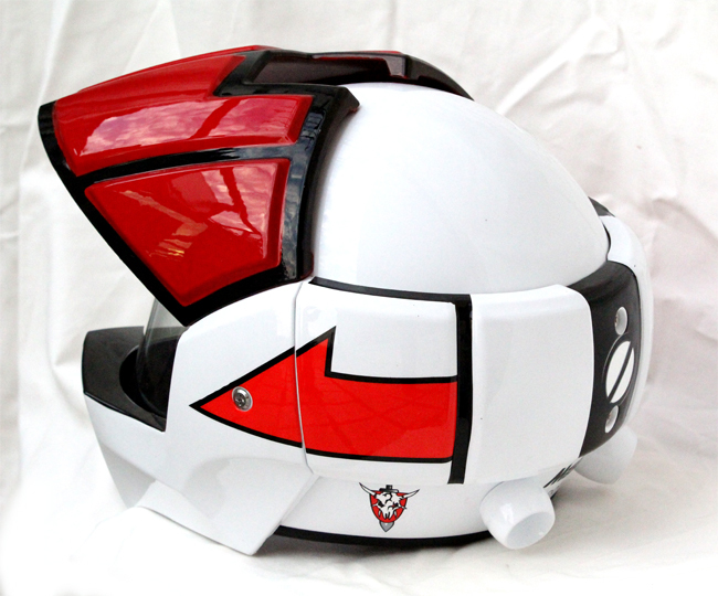 Masei 911 Macross Xcross Red White Motorcycle Helmet image 3