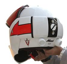 Masei 911 Macross Xcross Red White Motorcycle Helmet image 5