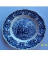 "Blue & White Ship Historical Ports of England / Port Of Bristol 10"" Donn... - $14.84"