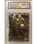 MICHAEL JORDAN 1986 23 KARAT GOLD WCG GEMMT 10 ROOKIE CARD! RARE BLUE BO... - $19.99