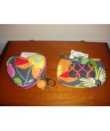 Vera Bradley Jazzy Blooms Sweetheart Coin And Clip Zip ID Case - $40.99