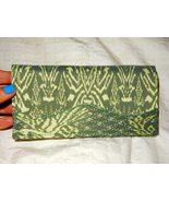 Women's Cambodian Silk Sage Green Wallet - $16.99