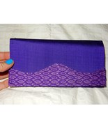 Women's Cambodian Silk Purple Violet Wallet - $16.99