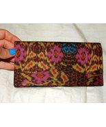 Women's Cambodian Silk Brown Multi-Colored Wallet  - $16.99
