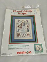 Dimensions Blessed Nativity Sampler Cross Stitch 8357 1988 - $12.95