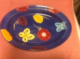 THE CELLAR PLATTER--LAURIE GATES--1998--FLORAL / BUTTERFLIES----FREE SHI... - $35.21