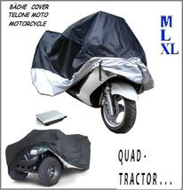 MOTORCYCLE Bike Scooter Vespa Cover RAINproof Polyester Bâche Plane Quad Tractor - $33.99