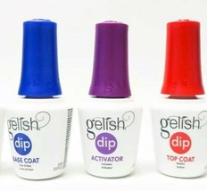 Gelish Soak Off Basix Acrylic Powder Dip  3pcs (TOP,BASE,ACTIVATOR) on sale - $19.79