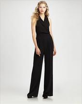 Designer Black V-Neck Bow Bandage Slim Formal L... - $49.99
