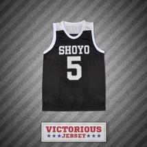 Slam Dunk Shoyo 5 Toru Hanagata Black Basketball Jersey Manga - $45.99