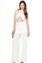 Summer Designer White Cross Halter Sexy Bandage... - $49.99