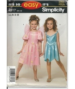 Simplicity 4917 Girl's Fairy, Angel Costume Pattern, Size 3 to 8, Dress,... - $4.95