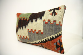 Kilim Pillows | 18x12 | Lumbar pillows | 1456 | Turkish pillows , throw ... - $49.00