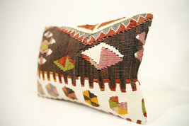 Kilim Pillows | 17x12 | Lumbar pillows | 1443 | Turkish pillows , throw ... - $49.00