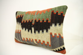 Kilim Pillows | 18x12 | Lumbar pillows | 1438 | Turkish pillows , throw ... - $49.00