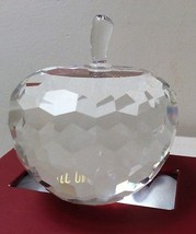 Oleg Cassini Crystal Apple Paperweight 220351MX - $30.00