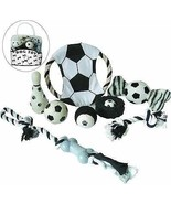 DOG TOYS GIFT SET OF 7 DOG TOYS SOCCER THEMED DOG TOYS SHIP FROM USA - $19.95