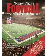 1990 monday night football tv viewing guide program magazine digest - $6.99