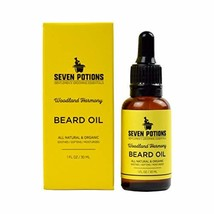 Beard Oil 1 fl oz by Seven Potions. Sweet and Woody Scented Beard Softener. Stop image 1