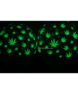 11 inch Glow in the Dark Weed Marijuana Pot Leaf Latex Balloons- 10 pack - $9.95