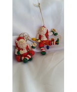Elves Christmas Ornaments Sitting and Dancing Set of 2      - $6.50