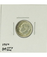 1964  United States Roosevelt Dime 90% Silver Rating : (VF) Very Fine - $1.71 CAD