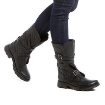 NEW Quilted Genuine Leather Boot by Steve Madden w/ Adjustable Buckled S... - $170.00