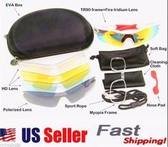 D&H Sport Hiking Cycling Sunglasses Goggles UV4002 Pair Leg Gloves 5 Lens - $17.98+