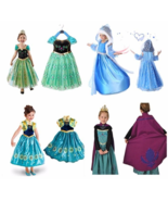 Princess Elsa Anna Role Cosplay Dress up Costume Dress for Girls Toddler 2-10 Y - $10.87 - $17.80