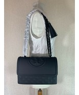 NEW VERSION Tory Burch Matte Black Fleming Convertible Bag - $498.05
