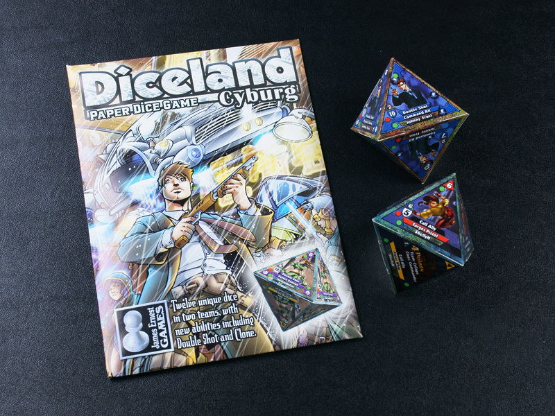 Diceland: Cyburg - Paper Dice Game from Cheapass Games