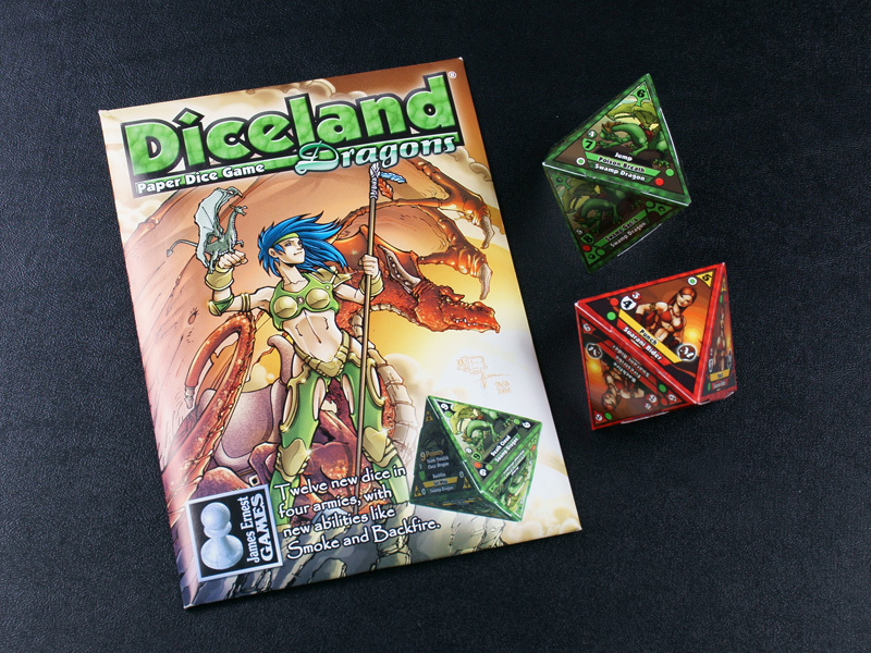 Diceland: Dragons - Paper Dice Game from Cheapass Games