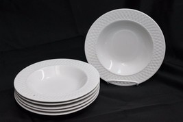 "Oneida Westerly Basket Rim Soup Bowls 8.75"" Set of 6 - $58.79"
