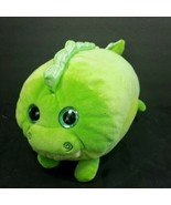 "Green Dinosaur Stacking Plush Shiny Silver Back Glitter Eyes 13"" Long Pi... - $19.79"