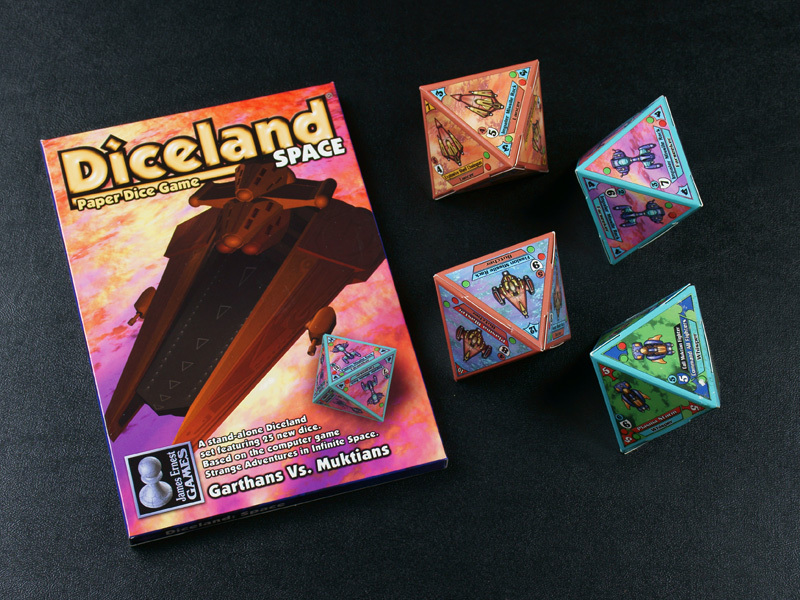 Diceland: SPACE Garthans vs. Muktians - Paper Dice Game from Cheapass Games