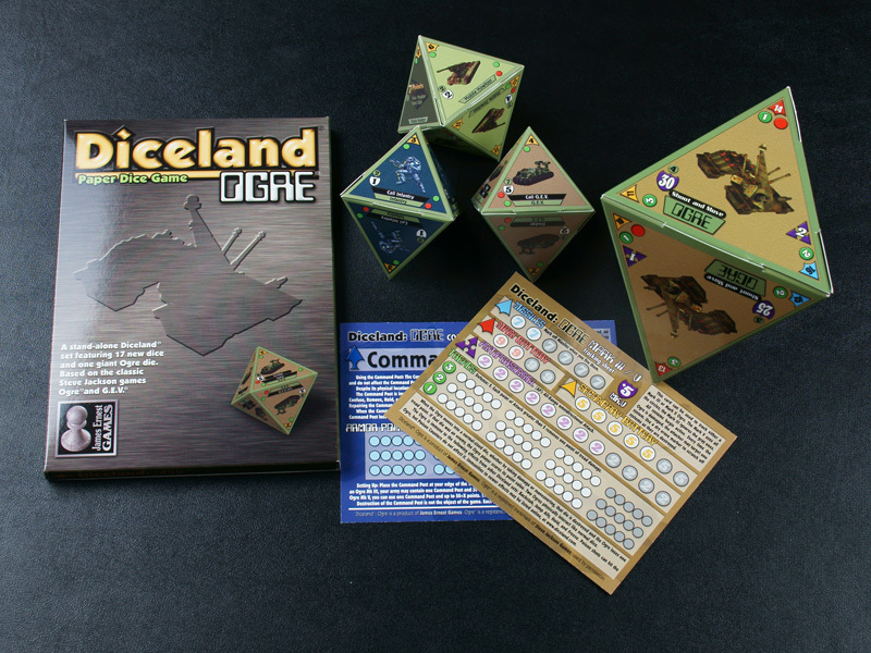 Diceland: OGRE - Paper Dice Game from Cheapass Games