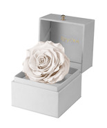Wedding Gift-Engagement Gift-Baby Shower-Preserved White Rose Gift Box - $115.00