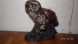 Vintage Owl Sculptured candle wax Carved - $32.19
