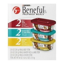 Purina Beneful Prepared Meals Dog / Puppy Food Variety Pack 60-Ounce Stew Combos - $26.57