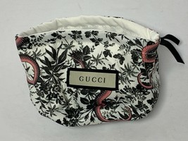Gucci Authentic Luxury Ivory White Pouch, Pink Snake/Floral Medium - $18.76