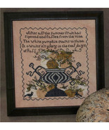 White Pumpkins Sampler cross stitch chart Dames Of The Needle - $6.75