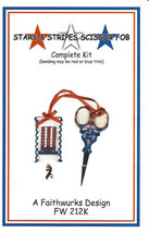 Stars and Stripes Kit patriotic cross stitch kit Faithwurks - $12.60