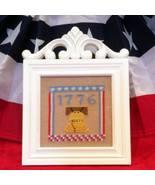 1776 patriotic cross stitch chart Flowers 2 Flowers - $6.00