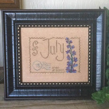 July Floral Postcard cross stitch chart From The Heart  - $5.00