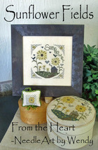 Sunflower Fields cross stitch chart From The Heart  - $7.20
