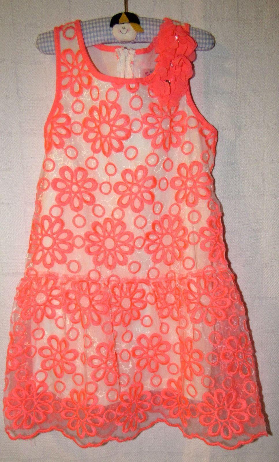 TWEEN BRAND/Justice Girls Embroidered Flower Dress - Girls Size: 6