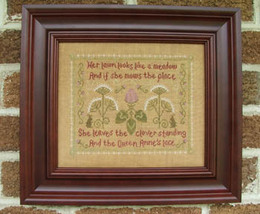 Clover and Lace cross stitch chart Misty Hill Studio - $9.00